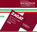 2009 Zagat Guide To America's 1,000 Top Italian Restaurants